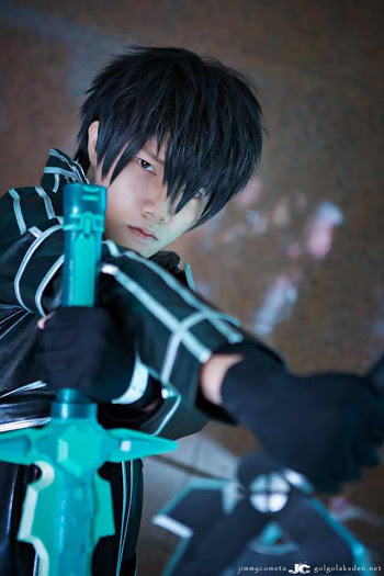 sword art online cosplay - kirito from malysia comic fiesta 2012